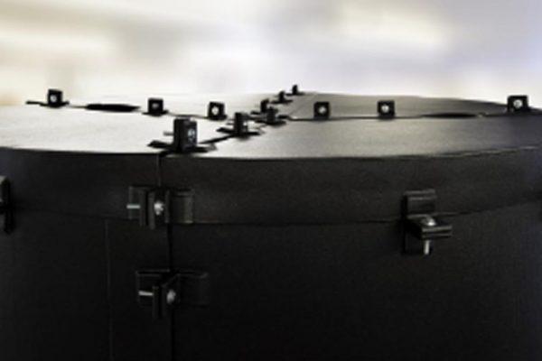 Dragon Jacket Insulation Custom Pressure Vessel Roof System, DJS2™ Closeup Roof View