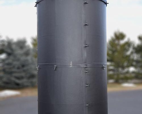 Dragon Jacket Insulation™ 1550 gallon safe tank panel insulation and insulated roof system, with pre-fabricated penetrations